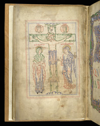 Crucifixion, The Arundel Psalter f.12v